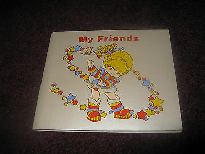 VTG Hallmark Cute Rainbow Brite Blank Sticker or Autograph Book New Unused