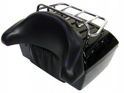 Motorcycle Luggage Trunk Cargo Top Rack Backrest Tail Box Storage Case Durable
