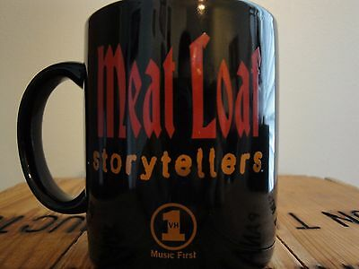 VH1 Storytellers Meat Loaf Mug Coffee Cup 1999 Music Video Channel TV Black Red
