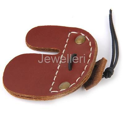 Archery Hunting Shooting Artificial Cow Leather Finger Tab Guard Protection