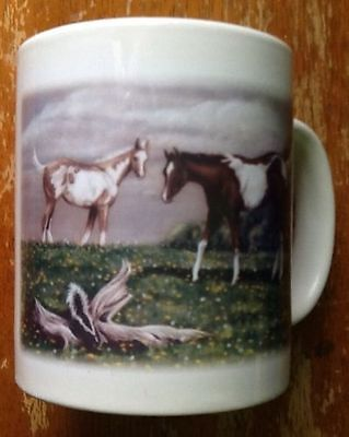 Curiosity By J Arns Western Paint Horses Ceramic Coffee Cup Mug