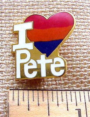I Love Pete Heart Shaped Enamel Gift Creations Pin New Old Stock