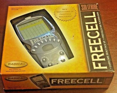 Freecell Radica 73015 GB Solitaire  Handheld Electronic Game  New In Box
