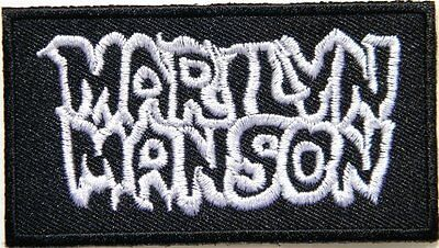 MARILYN MANSON Rock Metal Embroidered Sew On Iron On Shirt Hat Badge Patch