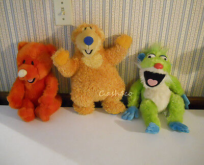 Bear in the Big Blue House Large Plushes Treelo Ojo & Bear Disney Store Lot of 3