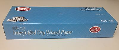 "BEST QUALITY 15"" x 10.75"" Deli Dry Waxed Papers Pop-Up Food Sandwich 500 Sheets"