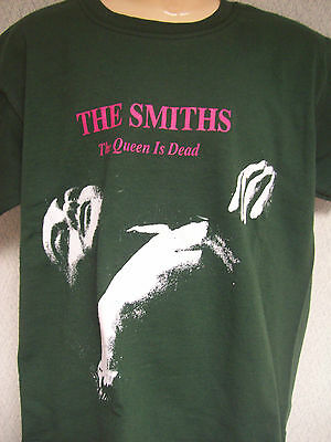Kids Childrens The Smiths T Shirt In Green 'the Queen Is Dead'