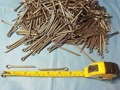 """Qty. of 25 Mil-Spec nickel alloy not plated cotter pins 2 5/8"""" boat aircraft etc"""