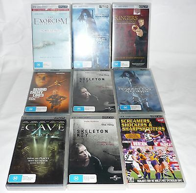Umd Video's To Suit Sony Psp, Bulk Lot 9 Items.