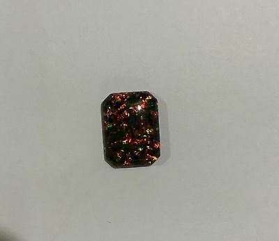 Lab Created Synthetic Black Opal - Octagon Cabochon AAA Loose stone(7x5-16x12mm)