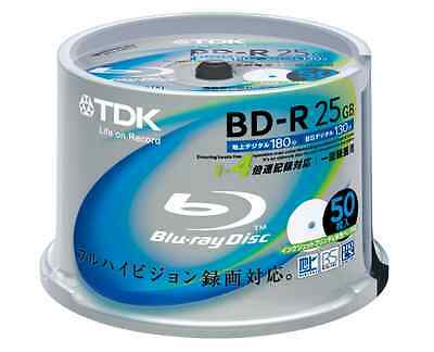 MADE IN JAPAN!!! TDK Blu-ray Disc 50 Spindle - 25GB 4X BD-R Printable BRAND NEW!