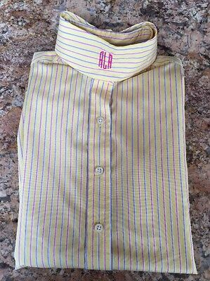 The Tailored Sportsman Poly/Cool Max  Collar Girl's Size 10 Striped Show Shirt