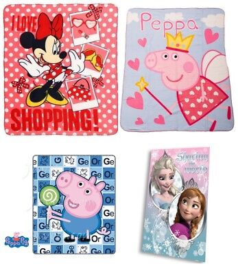 Eiskönigin Decke Minnie Mouse Peppa George Wutz Kuscheldecke Fleecedecke Frozen