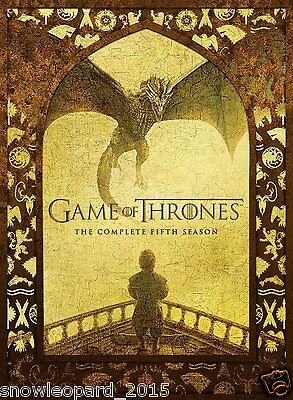 GAME OF THRONES THE COMPLETE FiFTH SEASON BOX SET BLU RAY SERIES 5 R2 UK NEW