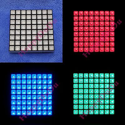 RGB 8x8 Colorful Full Color LED Dot Matrix Display 60x60mm Square Common Anode h