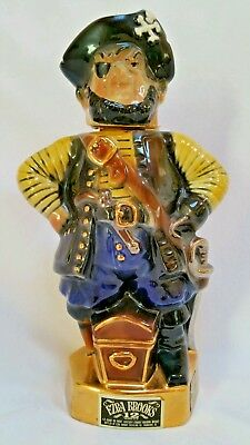 Ezra Brooks Pirate Decanter 24 Karat Gold Beam Style Heritage China Vintage 1971