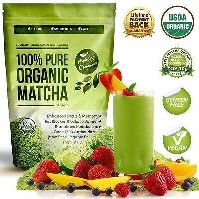 100% USDA Organic Matcha Green Tea Powder Extract - Fat Burner & Weight Loss Die