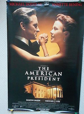 American President, Original DS Movie Poster, Michael Douglas, Annette Bening 95