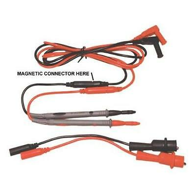 Electronic Specialties Pro Magnetic Multimeter Test Lead Set w/Clips ESI #138