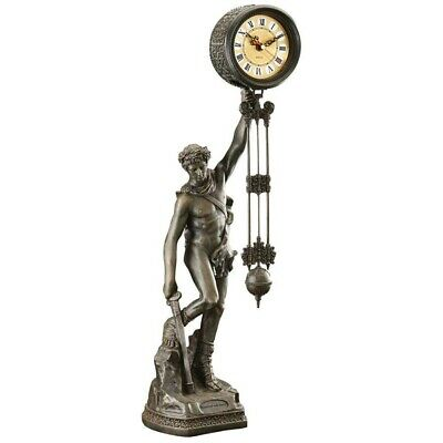 """18th Century French Style Victory Swinging Pendulum 26"""" Sculptural Clock"""