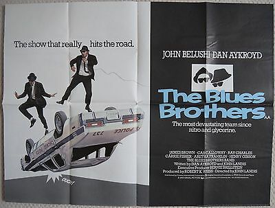Blues Brothers, Original UK Quad Poster, Dan Aykroyd, John Belushi, '80