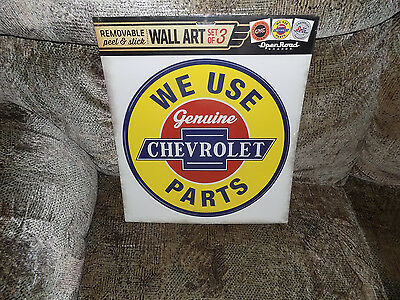 Chevrolet  Wall Art 3 Different Peel And Stick Reuseable Stickers Open Road