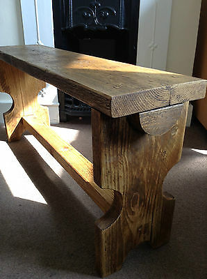 Handcrafted British Made Solid Wooden Pew Bench Seat
