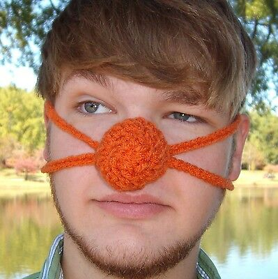 Orange you glad your nose is Warm?  - Nose Warmer - Vegan - Winter Outdoor Fun