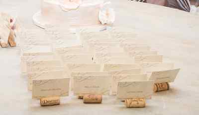 37 Used Natural Wine Cork Place Card Holders For Vineyard Wedding