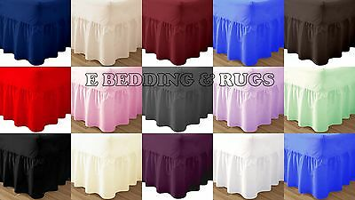 Premium Quality Plain Dyed Valance Sheet Poly-Cotton Non Iron Bed Shet All Sizes