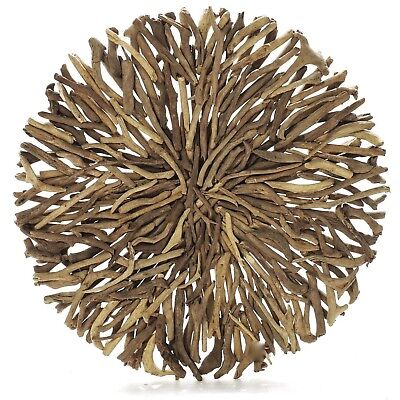 Driftwood Round Wall Hanging Art Indoor Outdoor 55cm