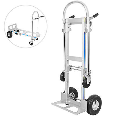 Compact Folding Aluminium Hand Truck Trolley Luggage Cart Foldable Wheels 250Kg