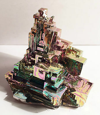 Spectacular 193.5 Gram 999.0 Pure BISMUTH CRYSTAL CASTLE (Great Investment)