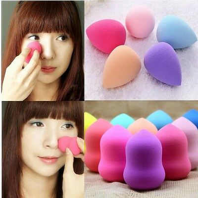 4x Makeup Foundation Sponge Blender Puff Flawless Powder Smooth Beauty