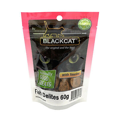 BlackCat Treats for Cats - Fish Delites 60g
