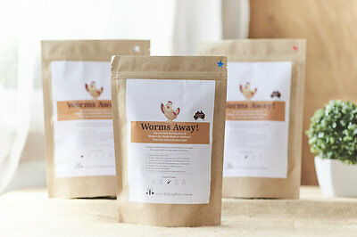 NEW - Safe, Feed Based Dewormer, Wormer, Hen Parasite Treatment for 3 Chickens