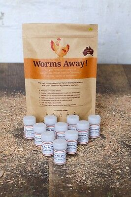 NEW - Chicken De-Wormer for 5 Chickens, Parasite Treatment, Safe and Feed Based