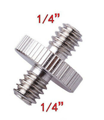 1/4'' Male to 1/4'' Male Threaded Camera Screw Adapter For Tripod Mount Holder A