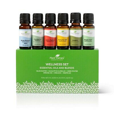 Plant Therapy Essential Oils Wellness Blends Set 100% Pure, Undiluted 6 - 10 mL