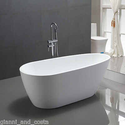 "Bathroom Acrylic Free Standing Bath Tub ""Thin Edge"" 1400 x 750 x600 Freestanding"