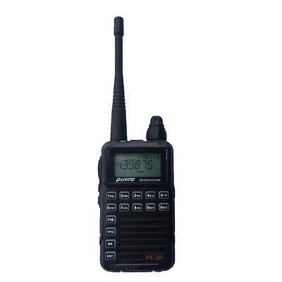 PUXING PX-2R Plus(Updated Ver.) Dual Receiver two way radio UHF 400-470Mhz FM