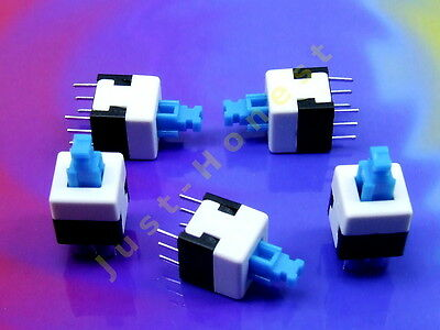 Stk. 5x MINI TASTER Schalter / Momentary Switch 8x8mm THT PCB Push Button #A694