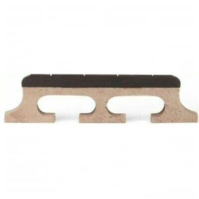 """4-String Banjo Bridge Maple with Notched Ebony Top - Height 9/16"""""""
