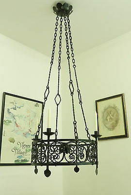 Large Vintage French Chateau Chandelier Light Use With Candles Or To Restore