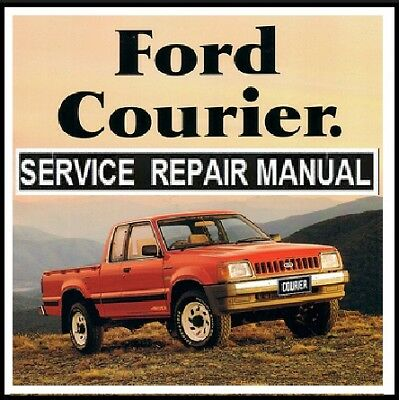 MAZDA B2200 B2600i 2wd-4wd FORD COURIER 1987-1995 WORKSHOP MANUAL ON CDROM