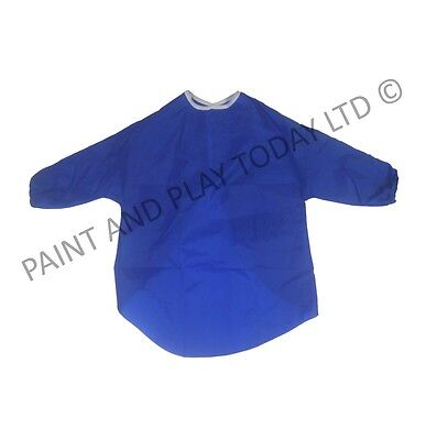 Childrens Waterproof Apron Art Craft Painting Smock Baking Blue Choose Size