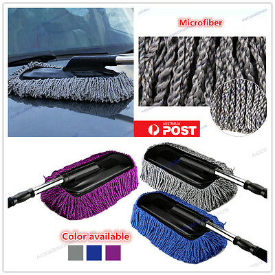Car Wash Duster House Cleaning Brush Wax Mop Microfiber Telescoping Dusting Dust