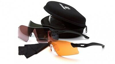 Venture Gear Drop Zone Shooting Eyewear Kit, Sunglasses, Storage Case & 4 lenses