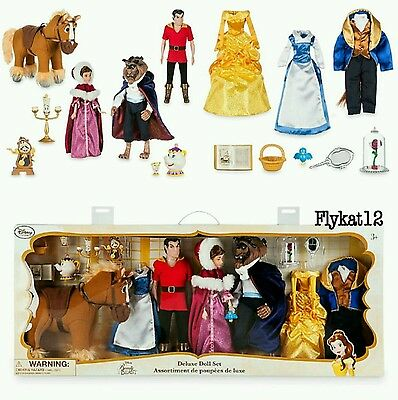 Disney Store Beauty and The Beast Deluxe Doll Set Art of Belle 25th Anniversary
