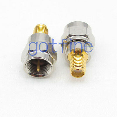 F male plug to SMA female jack straight RF connector adapter